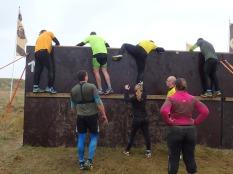 Neptunus Run Hindernislauf Belgien, Hindernis Woodlands Wand